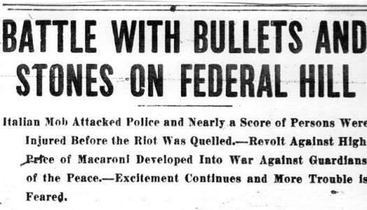 The Providence Macaroni Riots of 1914