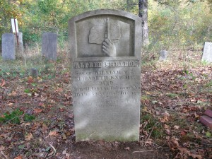 Alfred Sheldon Knight of Scituate, RI was a 29 year old dairy farmer who enlisted in Company C of the Seventh Rhode Island Volunteers in August 1862. He died of pneumonia on January 31, 1863 and is buried in the family cemetery on Scituate. He is listed as an official Civil War casualty from Rhode Island  (Collection of Robert Grandchamp)