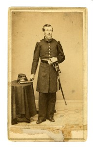 Lt. Col. Job Arnold of the Seventh Rhode Island, a resident of Providence is documented beyond a reasonable doubt to have died of illness contracted in the Civil War, five years after he was discharged (Collection of Robert Grandchamp)