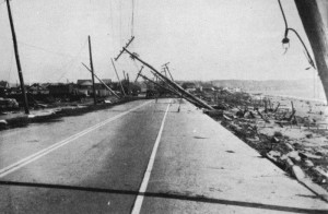 Damage from the 1938 Hurricane at Island Park, Rhode Island (Collection of NOAH)