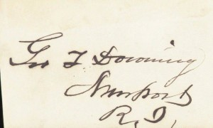 Autograph of George T. Downing of Newport (Private Collector)