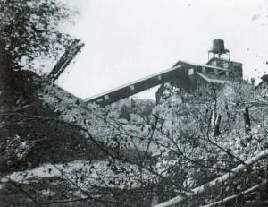 The Cranston Coal Mine, circa 1950 (Collection of the Cranston Historical Society)