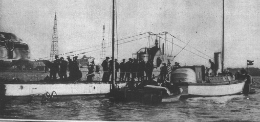 A German U-Boat in Newport Harbor During World War I