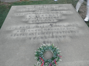 Admiral de Ternay's grave, Trinity Church, Newport.