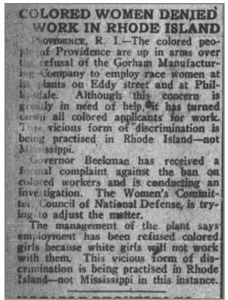 From the November 9, 1918 edition of the New York Age, the nation's leading black newspaper of the day