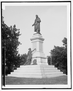 Statue of Roger Williams in Roger Williams Park, Providence (Library of Congress)