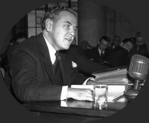 Thomas Corcoran testifying before Congress