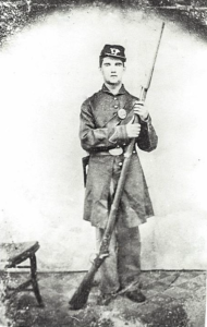 John Henry Riley II as a young man and soldier in the Union Army
