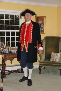 John Millar in a replica Continental Navy uniform (John Millar)