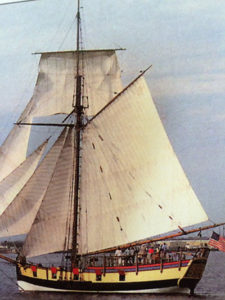 The replica of the Continental Navy sloop Providence (John Millar)