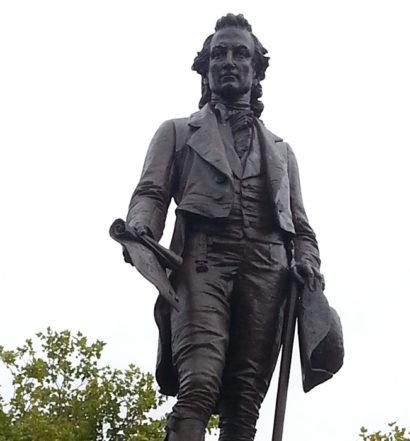 Ebenezer Knight Dexter Statue on the Dexter Training Grounds