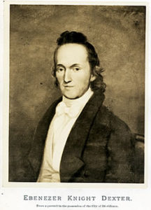 Ebenezer Knight Dexter in the 1820s (Providence City Archives)
