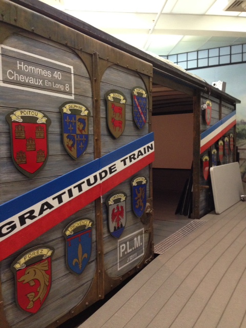The Merci Train boxcar at the Museum of Work and Culture in Woonsocket (Gloria De Paola, 2016)