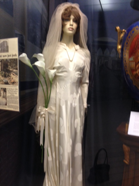The Merci Train bridal gown at the Museum of Work and Culture in Woonsocket (Gloria De Paola, 2016)