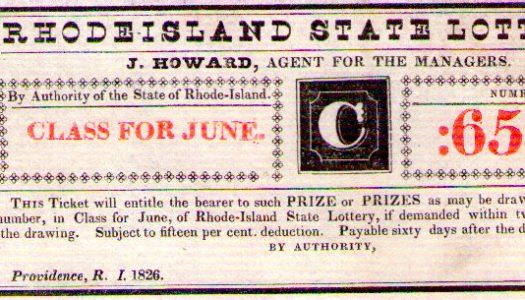 Rhode Island Lotteries through the Centuries