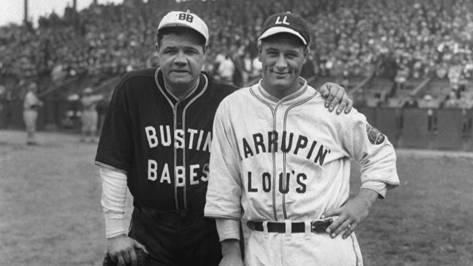 timeless design 312f6 5efe3 Babe Ruth and Lou Gehrig Play an Exhibition Game in ...